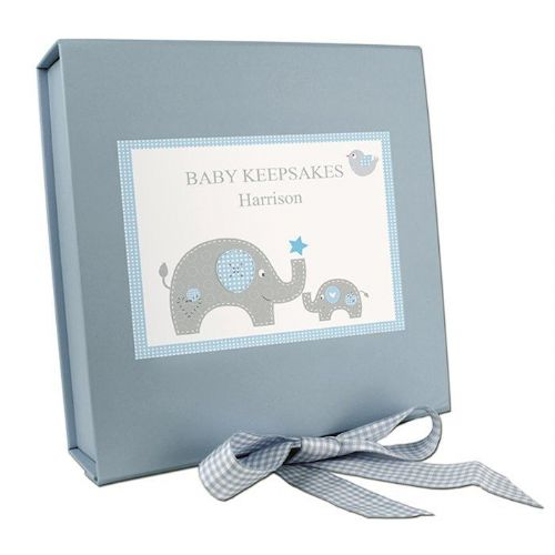 Blue Baby Elephant Gift Box